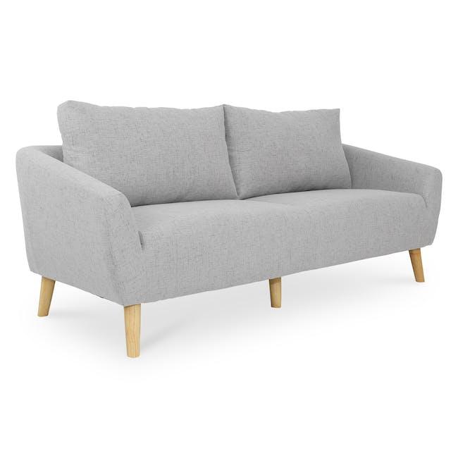 Hana 3 Seater Sofa- Light Grey - 2