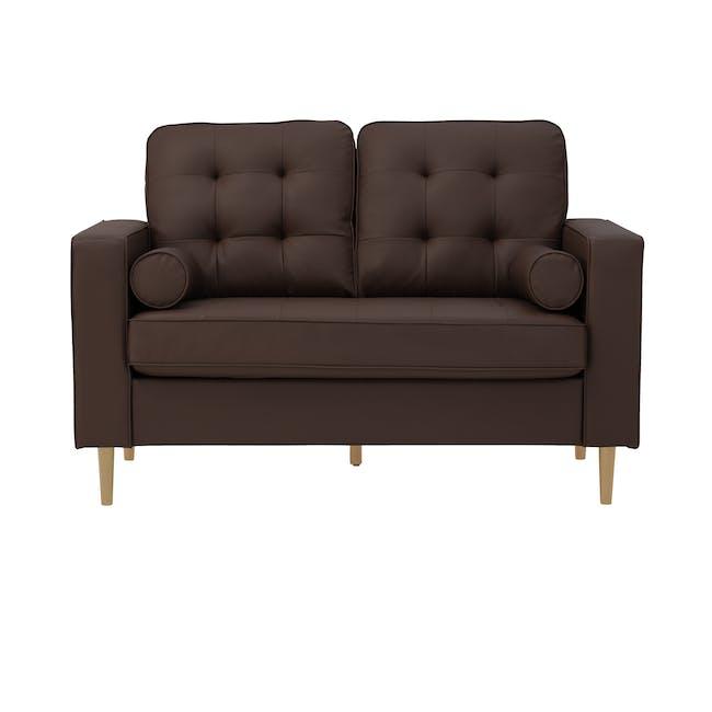 Royce 2 Seater Sofa -  Mocha (Faux Leather) - 0