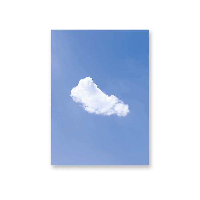 Borderless Minimalist Art Print on Paper (2 Sizes) - Cloud - 0