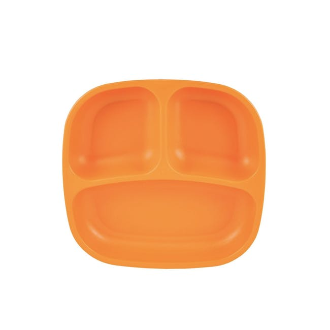 """Re-Play 7"""" Divided Plate - Orange - 0"""