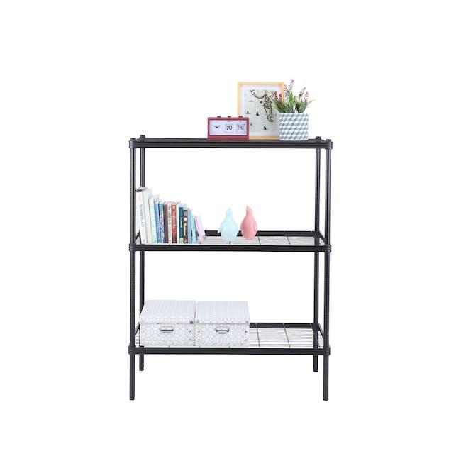 Walden 3-Tier Storage Shelf 90cm - Black - 6