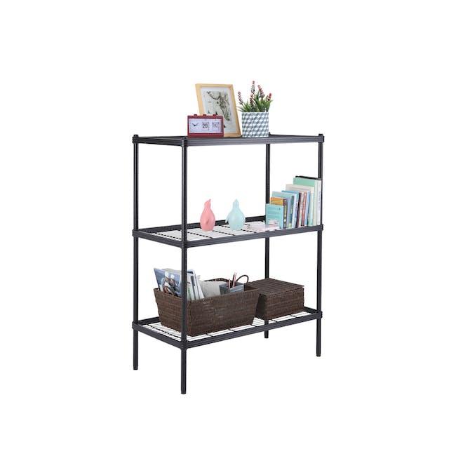 Walden 3-Tier Storage Shelf 90cm - Black - 7