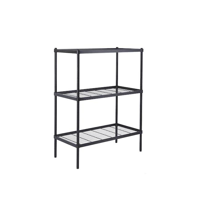 Walden 3-Tier Storage Shelf 90cm - Black - 8