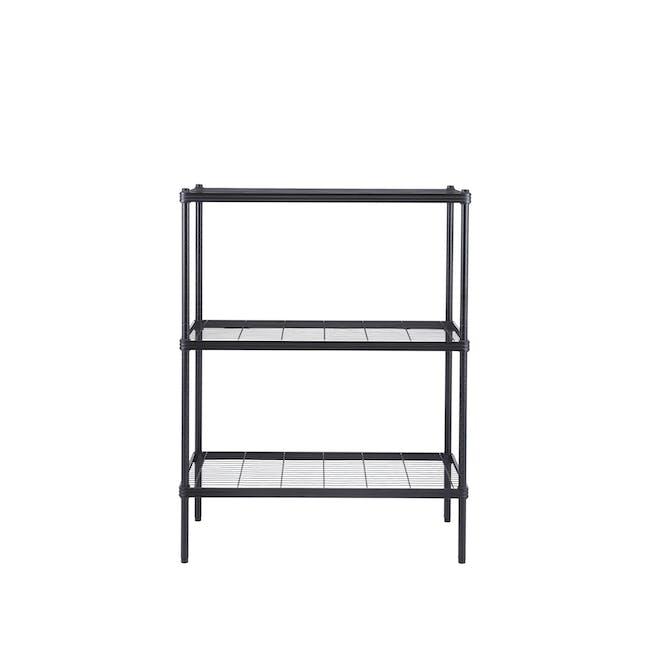 Walden 3-Tier Storage Shelf 90cm - Black - 0