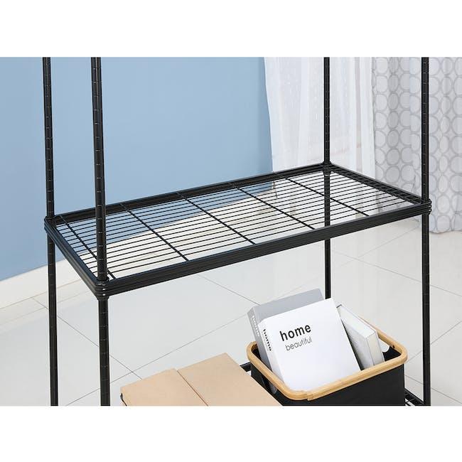 Walden 3-Tier Storage Shelf 90cm - Black - 2