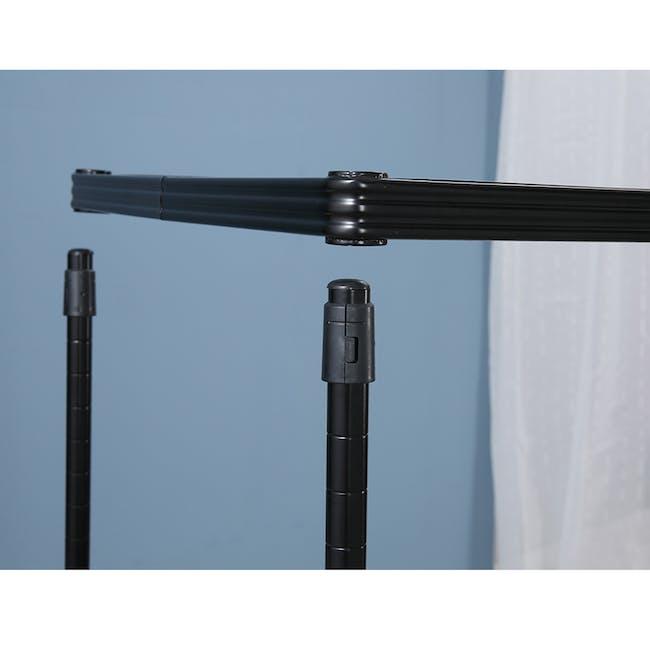 Walden 3-Tier Storage Shelf 90cm - Black - 3