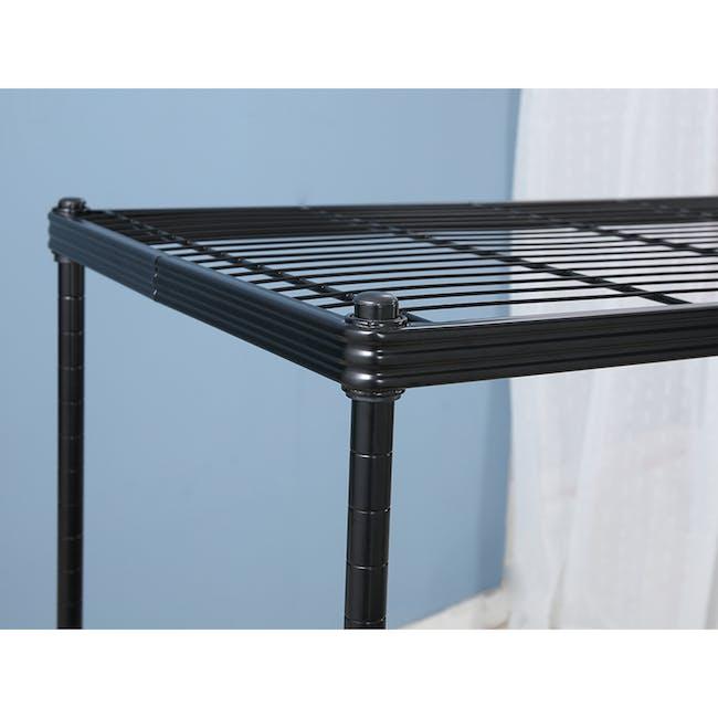 Walden 3-Tier Storage Shelf 90cm - Black - 4