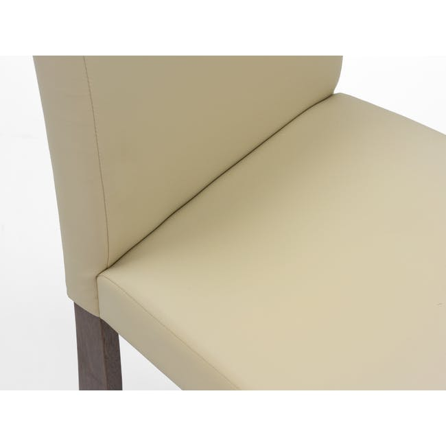 Dahlia Dining Chair - Cocoa, Cream (Faux Leather) - 6