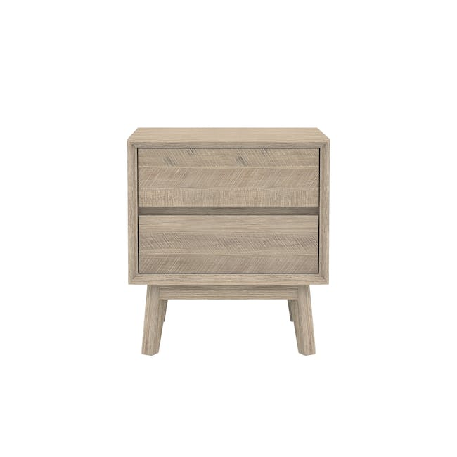 Leland Queen Bed with 2 Leland Twin Drawer Bedside Tables - 4