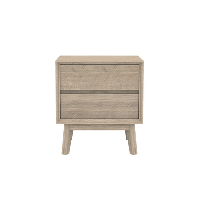 Leland Twin Drawer Bedside Table - Image 1