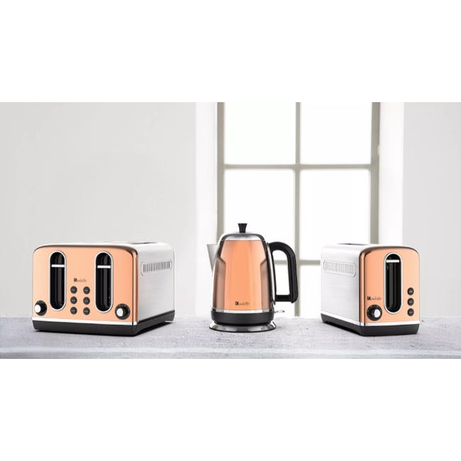 Odette Streamline 2-Slice Bread Toaster - Copper - 4