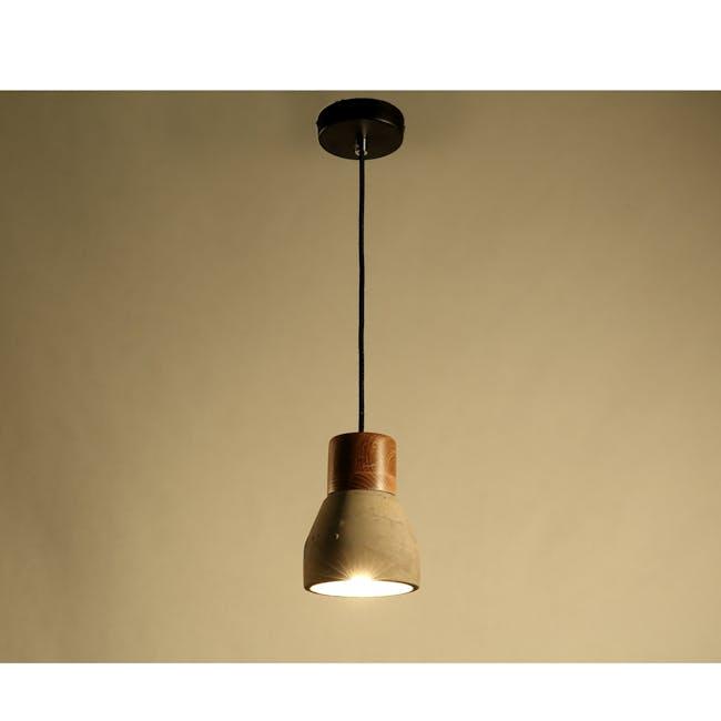 (As-is) Charlie Concrete Pendant Lamp - Grey - 2 - 9