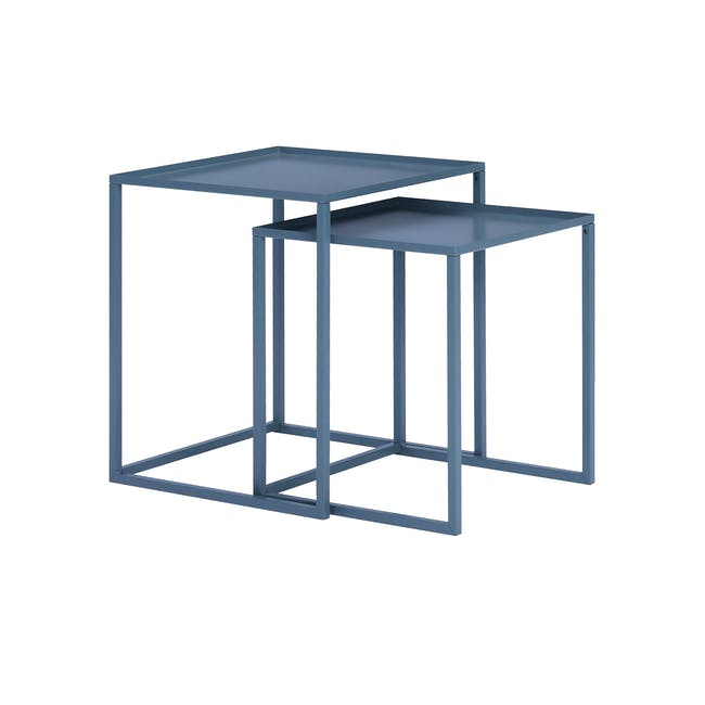 Luso Nesting Table - Matte Grey - 0