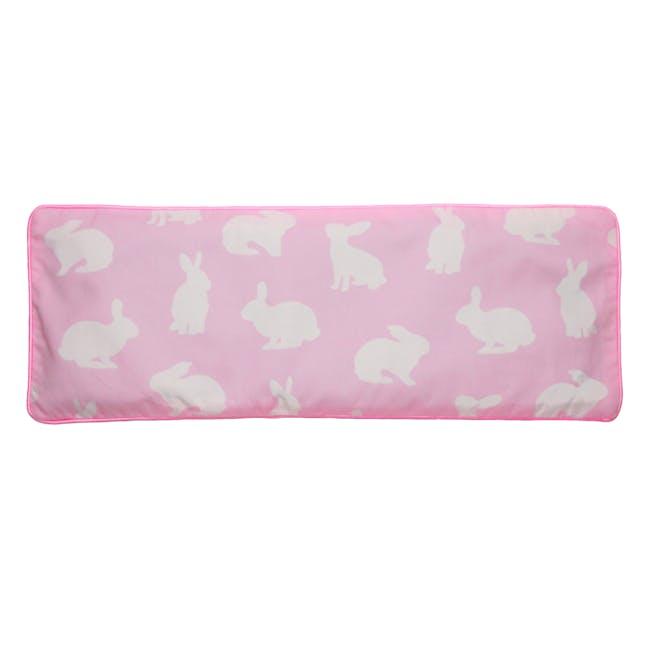 Bunnies Snuggy Beansprout Husk Pillow - Pink (Organic Cotton) - 0