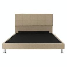 Amsterdam Headboard Bed - Sand (Fabric)