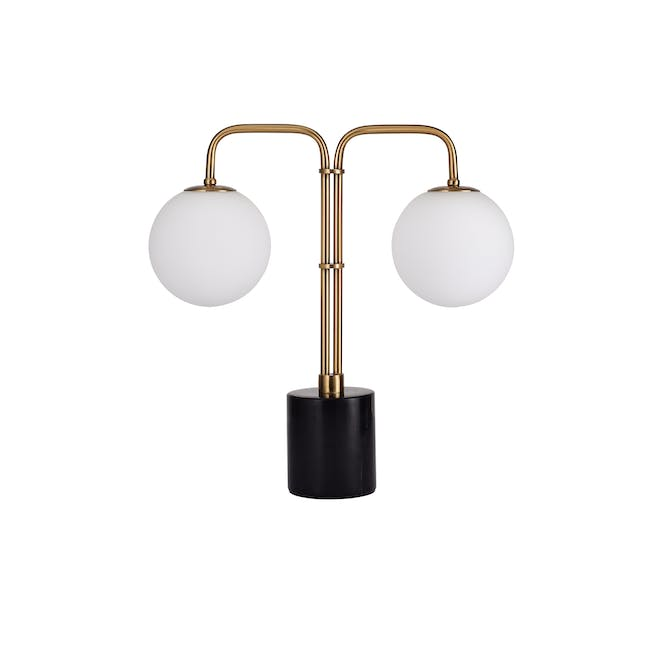 Luicia Duo Marble Table Lamp - Black - 0