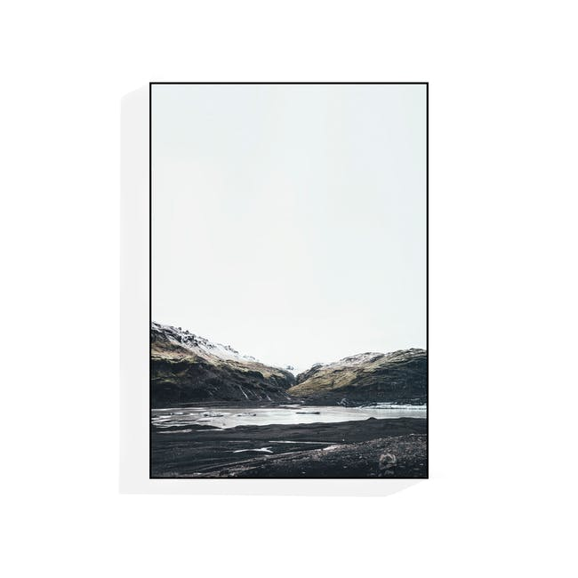 Scenery Portrait in Wooden Frame 50cm by 70cm - Icelandic - 0