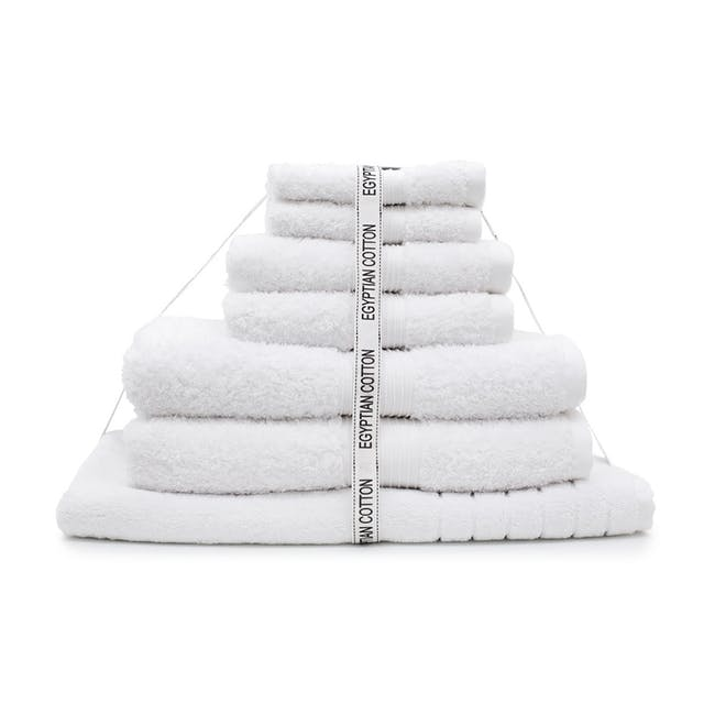 Canningvale Egyptian Royale 7pc Towel Set - Carrara White - 0