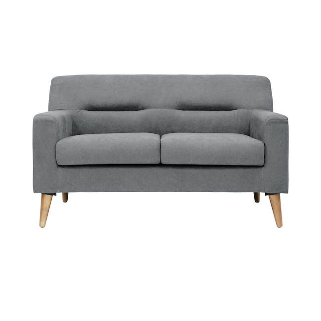 Damien 3 Seater Sofa with Damien 2 Seater Sofa - Heather Grey - 5