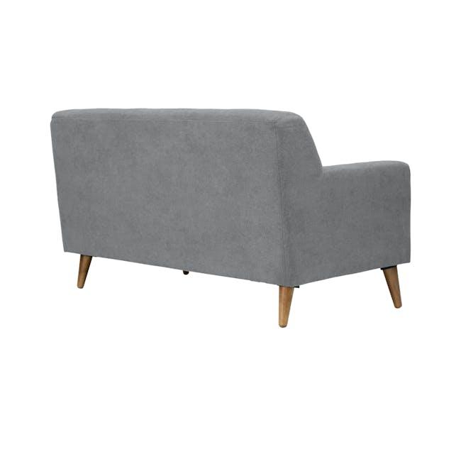 Damien 3 Seater Sofa with Damien 2 Seater Sofa - Heather Grey - 7