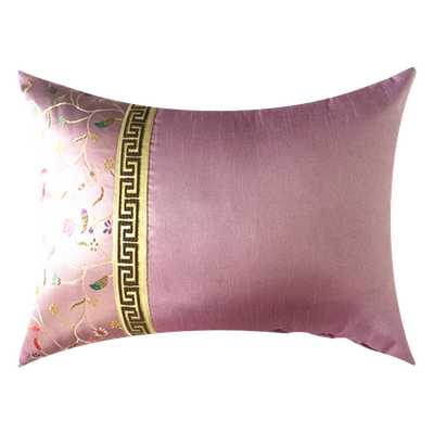 Blossom Brocade Oblong Cushion - Pink - Image 2