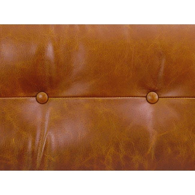 Wyatt 3 Seater Sofa - Butterscotch (Premium Waxed Leather) - 6
