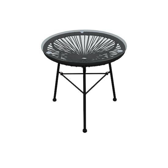 HipVan Bundles - Acapulco Chairs with Acapulco Side Table - Black