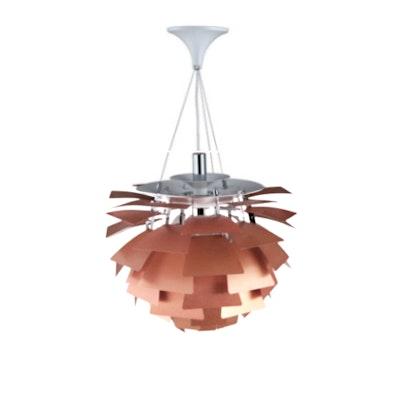 Artichoke Lamp with E27 Bulb - Copper - Image 2
