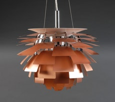 Artichoke Lamp with E27 Bulb - Copper