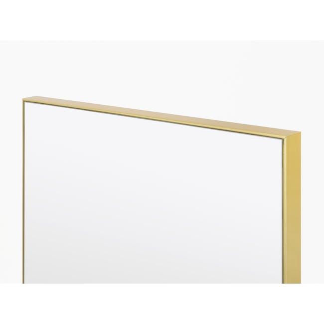 Zoey Standing Mirror 30 x 150 cm - Brass - 2