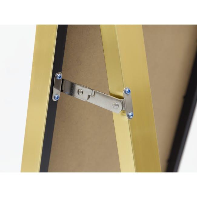 Zoey Standing Mirror 30 x 150 cm - Brass - 3