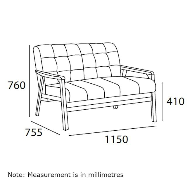 Tucson 2 Seater Sofa with Tucson Armchair - Chestnut (Fabric) - 7