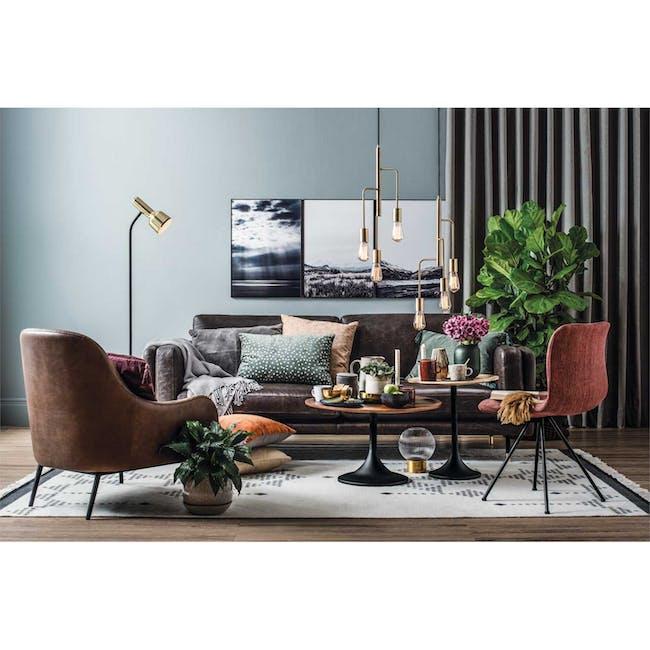 Acadia 3 Seater Sofa - Mocha (Genuine Cowhide) - 1