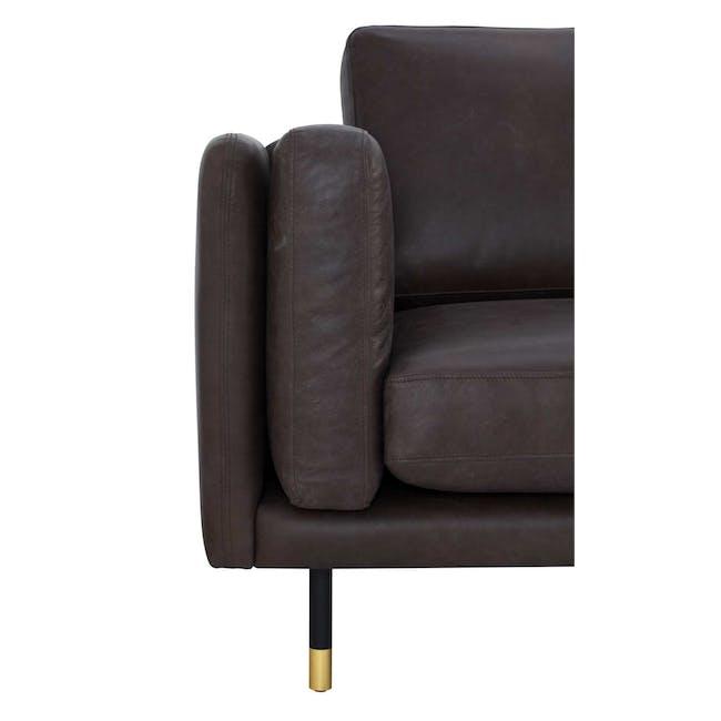Acadia 3 Seater Sofa - Mocha (Genuine Cowhide) - 4