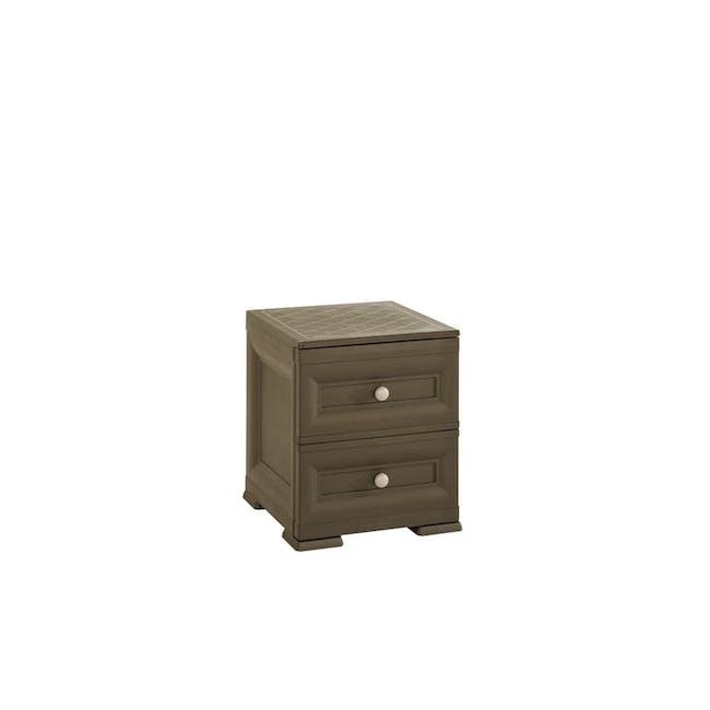 Tontarelli Bedside Table - Wood Brown - 0