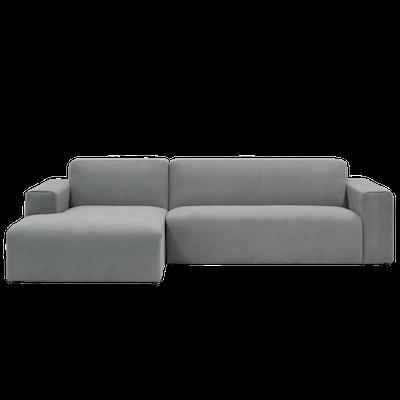 Adam L Shape Sofa and Adam Ottoman - Grey - Image 2