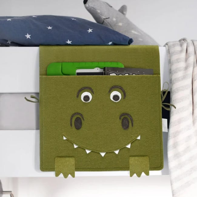 Little Stackers Bed Pocket - Terry T-Rex - 1