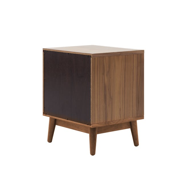 Audrey Queen Storage Bed in Seal Grey with 2 Kyoto Top Drawer Bedside Tables in Walnut - 11