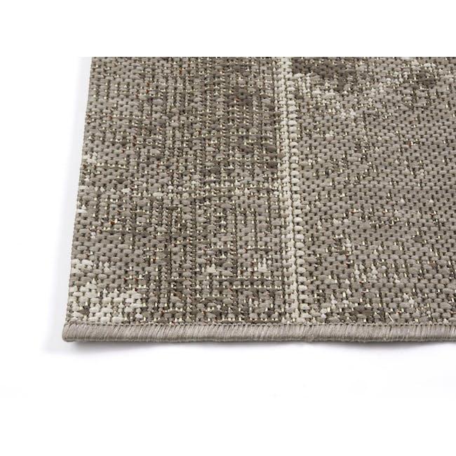 Star Flatwoven Rug 2.9m x 2m - Grey Patchwork - 2