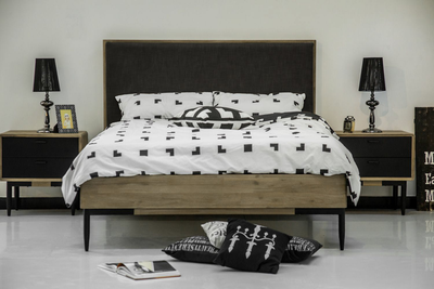 Starck King Bed with 2 Starck Bedside Tables - Image 2