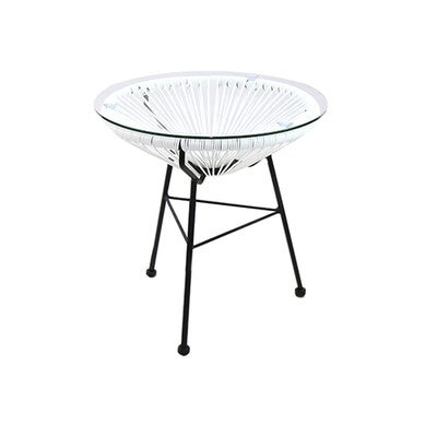 Acapulco Tea Side Table - White - Image 1
