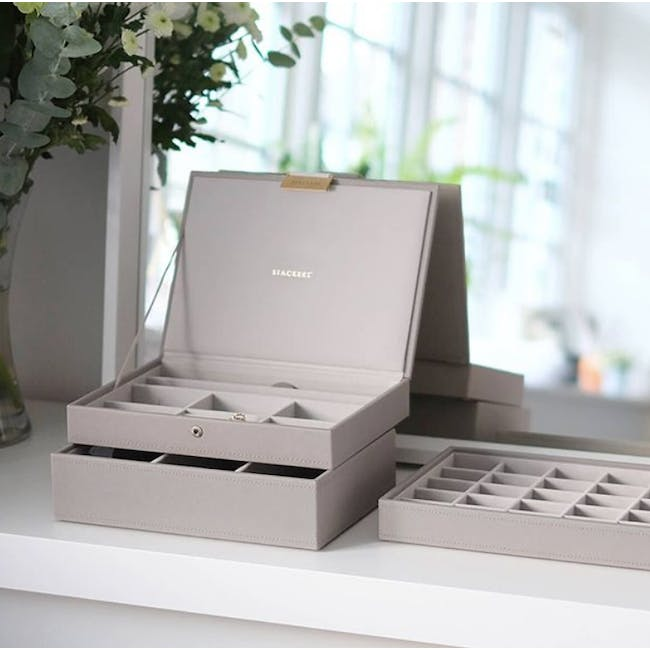 Stackers 3-in-1 Classic Jewellery Box - Taupe - 5