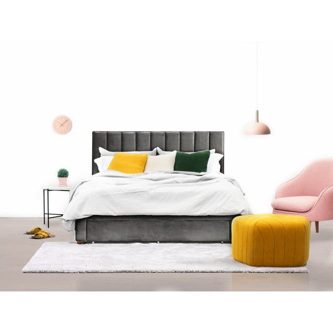Lexi Queen 3 Drawer Bed - Moonstone (Velvet) - 3