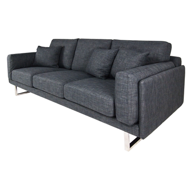 Melissa 3 Seater Sofa - Grey - Image 2