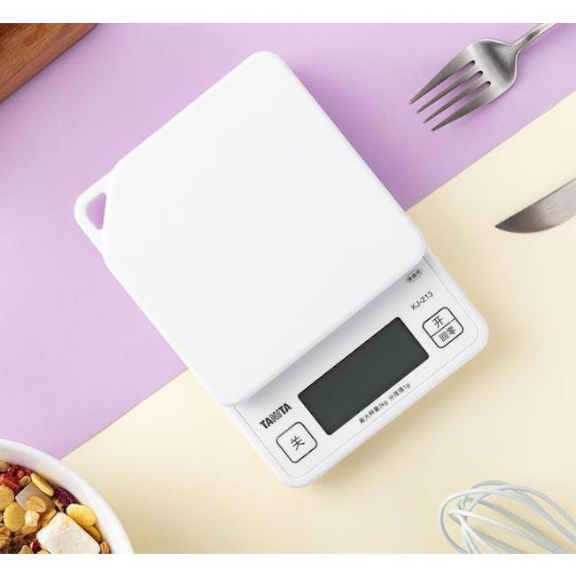 Tanita Digital Kitchen Scale with Hanging Hook - White - 5