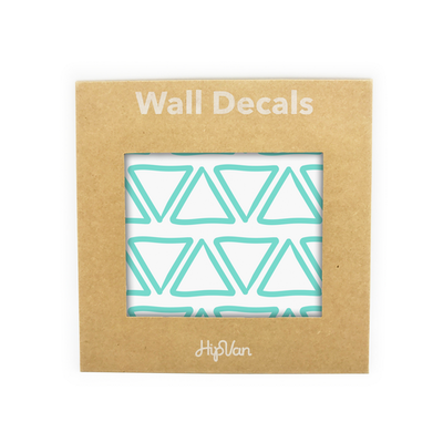 Doodle Triangle Wall Decal (Pack of 48) - Mint - Image 1
