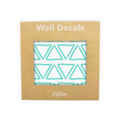 Doodle Triangle Wall Decal (Pack of 48) - Mint