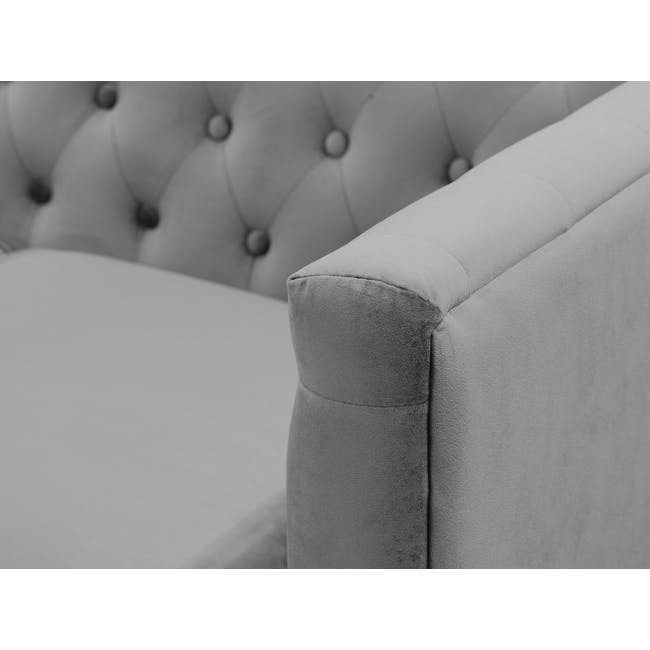 Cadencia 2 Seater Sofa - Anchor Grey (Velvet) - 7