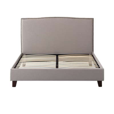 Stanley King Headboard Bed - Khaki - Image 2