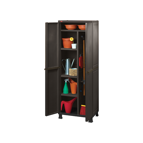 Keter - Rattan Multipurpose Cabinet with Legs